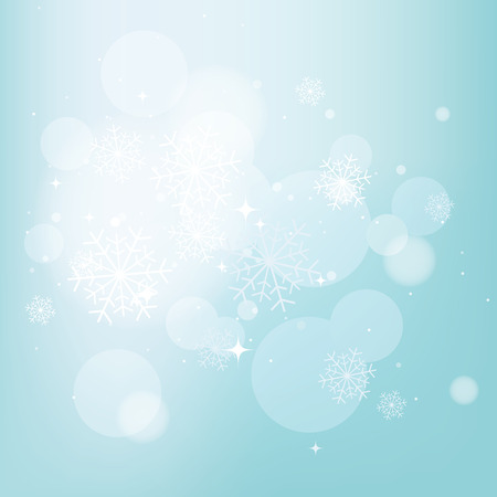 snowflake background: Blue winter background with snowflakes