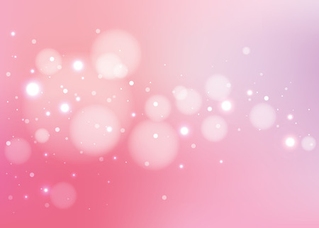 Abstract pink background with glitters  Ilustração