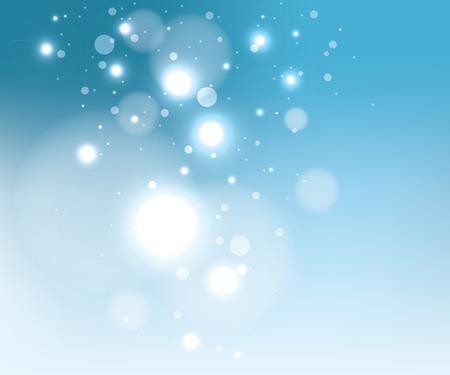 Blauwe sneeuw achtergrond, EPS10 bestand met transparantie-effecten Stock Illustratie