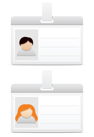 personalize: Personal badge for men and woman Illustration