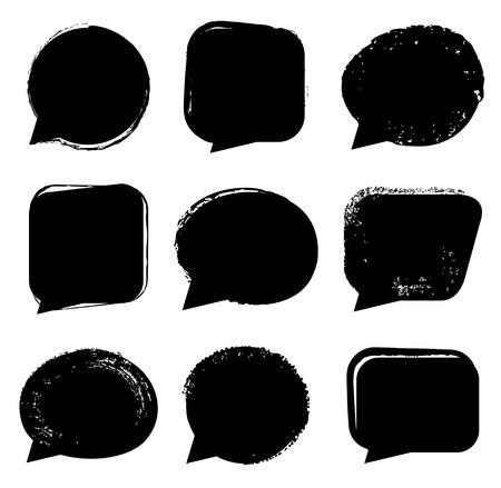 黒いスピーチ泡セット