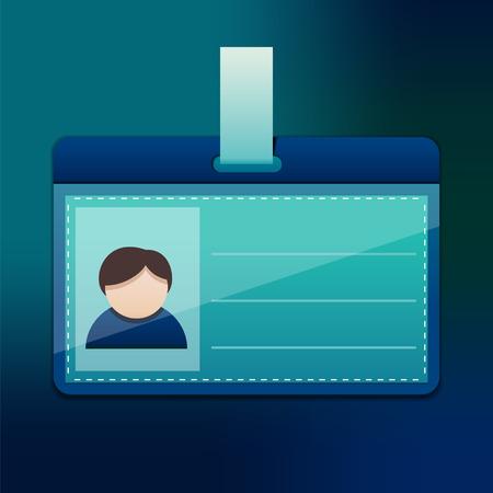 for men: Blue personal badge for men