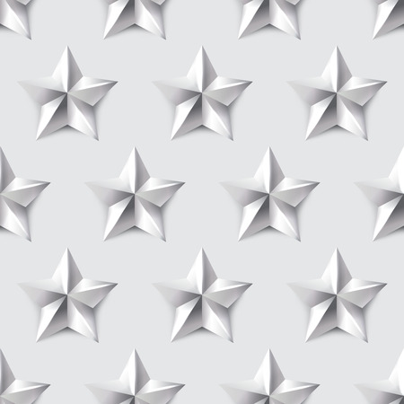 silver star: Silver star seamless background vector simple patter Illustration