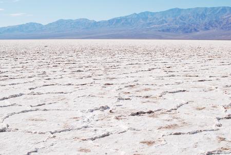 Death Valley National Park, salt flats beautiful landscape, Badwater Basin Stok Fotoğraf
