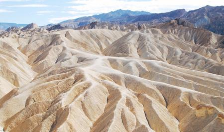 Zabriskie point landscape, Death Valley National Park, USA Stok Fotoğraf