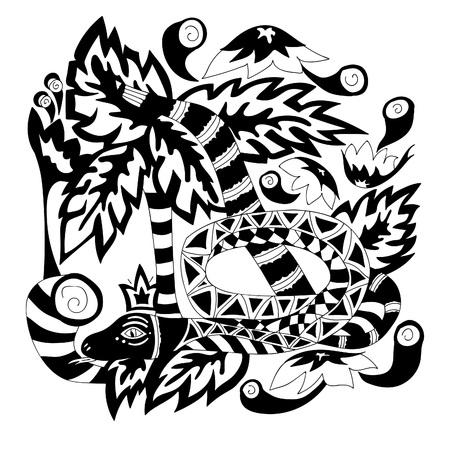 euphoria: black and white pattern Illustration