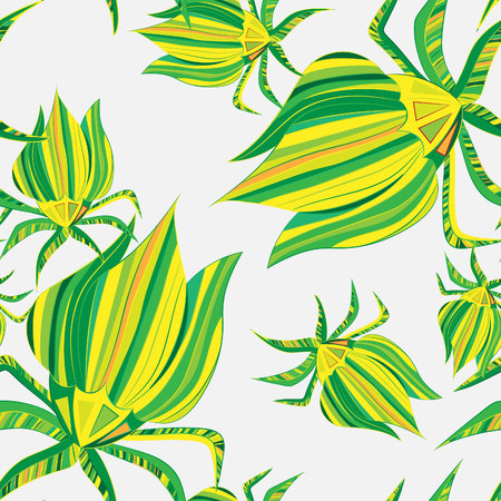Abstract floral, seamless pattern. Drawn doodles for meditation, soothing, textile