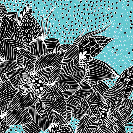 Psychedelic pattern for meditation, soothing, twisting elements. Illustration