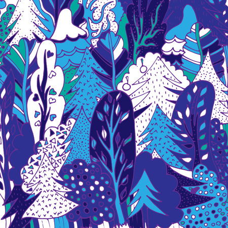 Trees in the forest.Vector illustration, sketch drawn by hand 일러스트