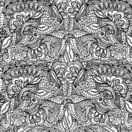 Abstract, floral pattern .Vector illustration, hand drawn doodle 일러스트