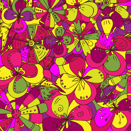 Abstract floral pattern, sketch drawn by hand 일러스트