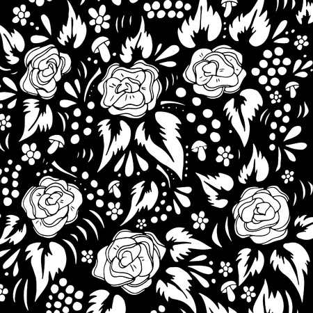 Khokhloma Pattern Illustration