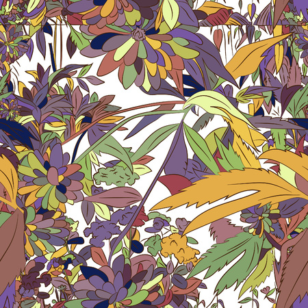 Abstract floral, seamless pattern. Drawn dudles. For meditation, soothing, textile