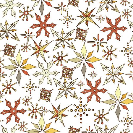 Christmas snowflakes seamless pattern 스톡 콘텐츠 - 134273405