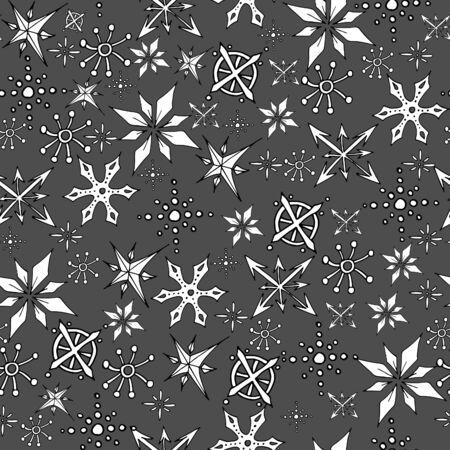 Christmas snowflakes seamless pattern 스톡 콘텐츠 - 134273430