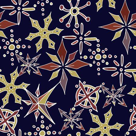 Christmas snowflakes seamless pattern 스톡 콘텐츠 - 134273469