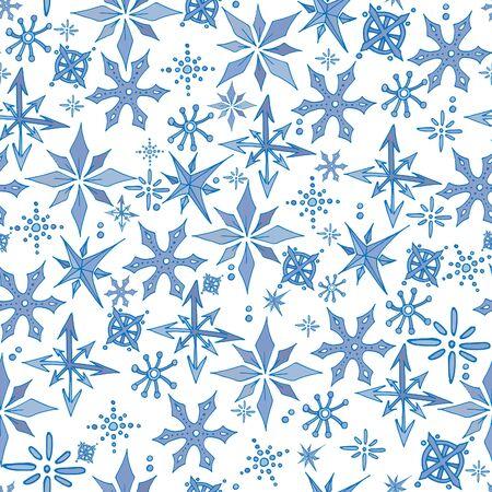 Christmas snowflakes seamless pattern 스톡 콘텐츠 - 134273491