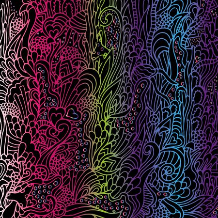 Abstract, psychedelic pattern. Illustration, bright, doodle