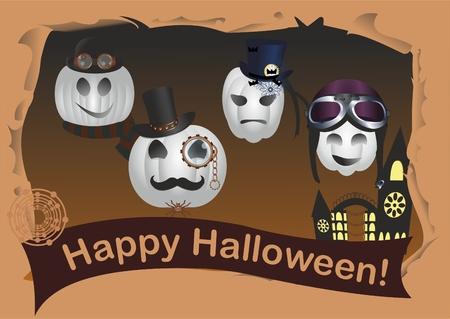 Halloween in steampunk style