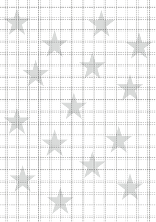 Rack and stars background in white and grey. Illustration