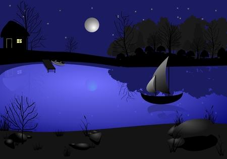 Moon and sail