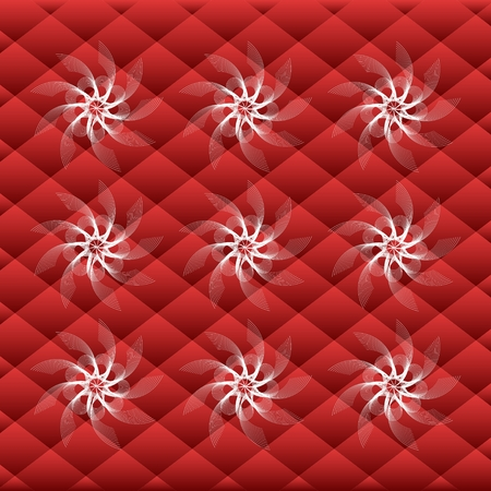 Squares with white blizzard pattern Ilustração
