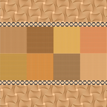 Knitted patchwork back ground of autumn tones 일러스트