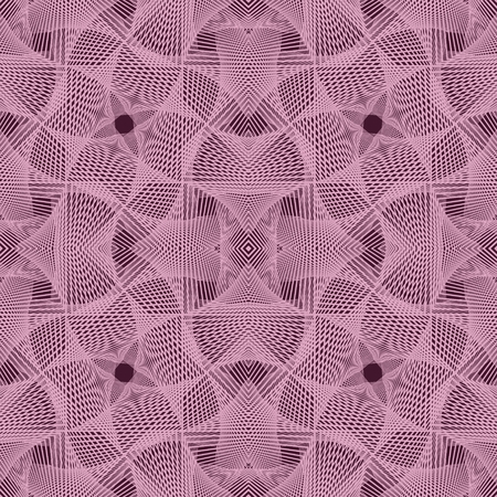 Abstract pink crocheted pattern.