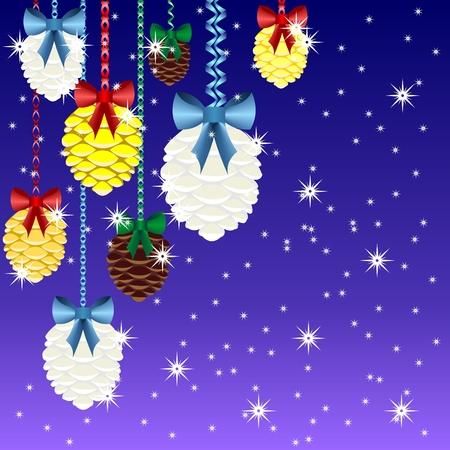 Christmas garlands with Christmas tree bumps
