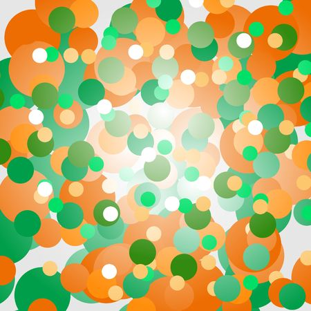 Background of orange and green circles Ilustrace