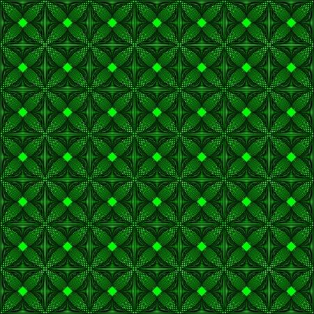 사각형 및 라인에서 추상 니트 녹색 패턴.
