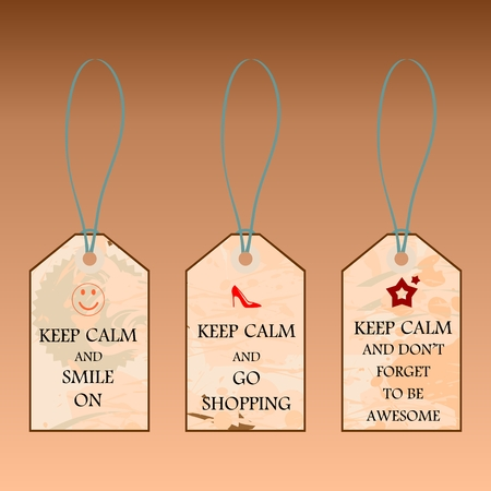 Set of motivating labels in vintage style