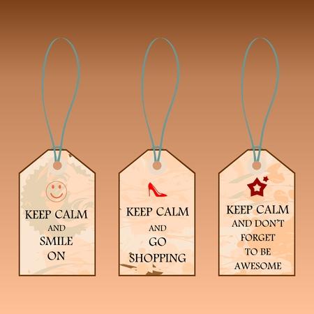 Set of motivating labels in vintage style