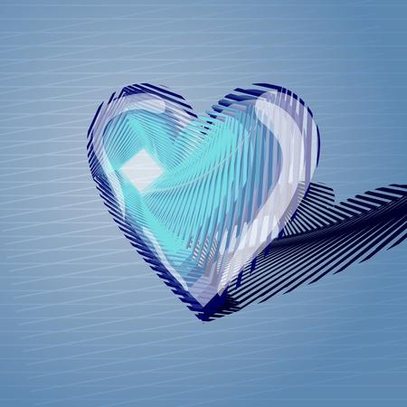 Volumetric heart of lines.