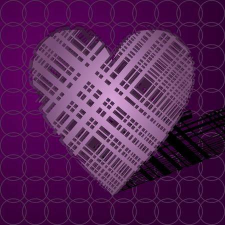 Volumetrisch hart van lijnen. Stock Illustratie