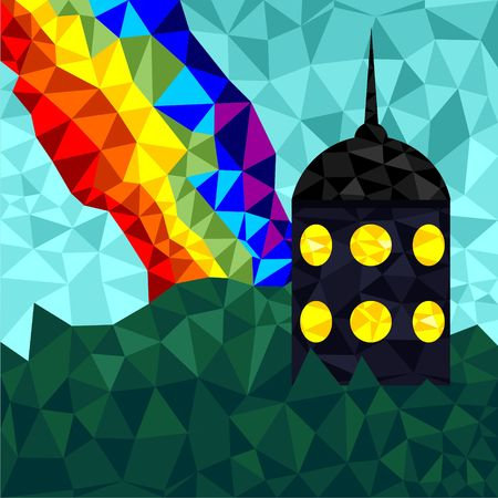 The tower in polygonal style