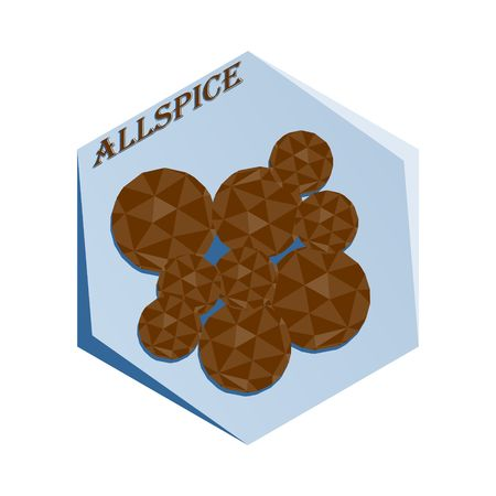 Label for seasoning Allspice pepper