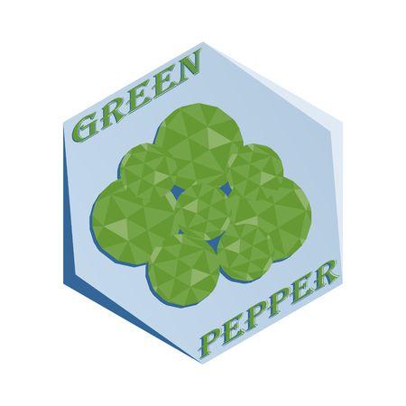 調味料グリーンペッパー用ラベル