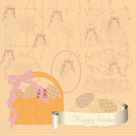 Happy easter greeting card image illustration Ilustrace