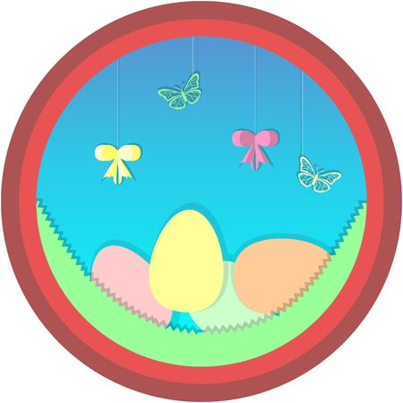 Happy easter cartoon image illustration Stock Illustratie