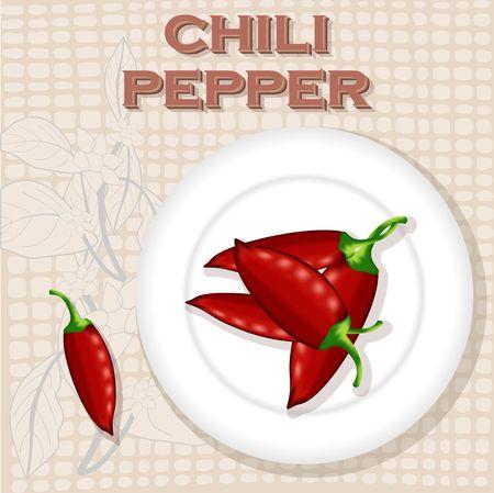 Chili pepper image illustration Ilustrace