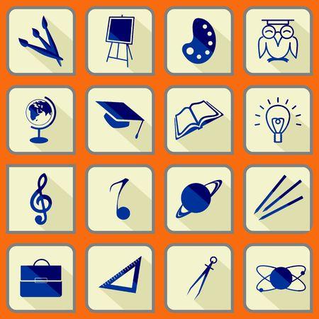 School icon s set