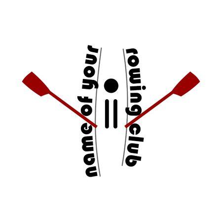 Rowing club design vector