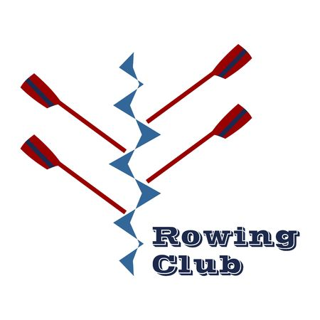 Rowing club design vector