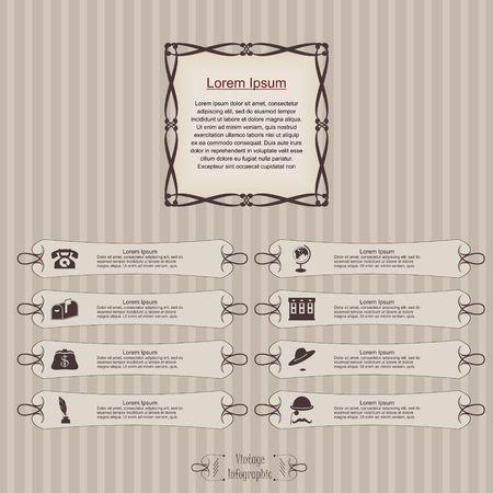 Vintage infographic label vector image. Ilustrace