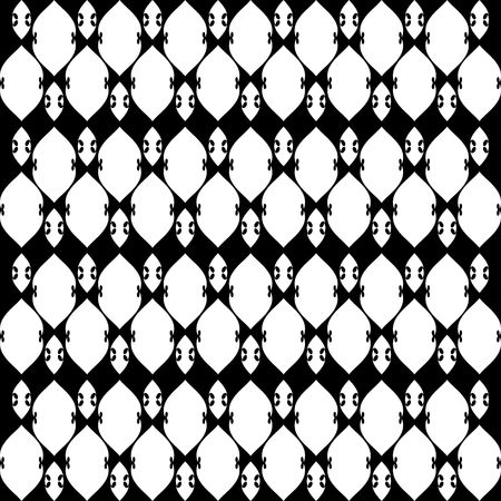 Lacy black and white pattern five 일러스트