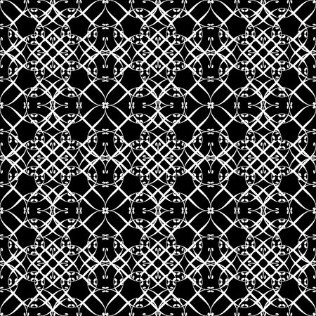 Lacy black and white pattern seven