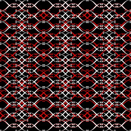 Red, black and white abstract seamless pattern.