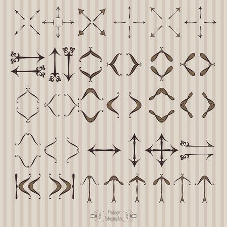 Arrows icon in vintage style