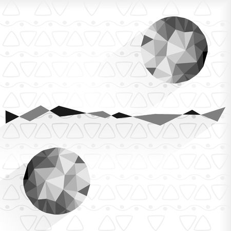 Black and white circles in triangle design